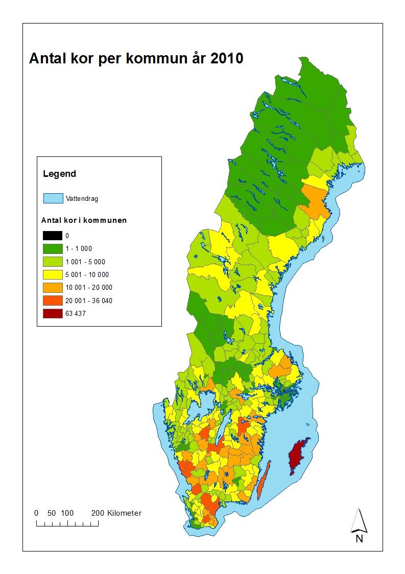 jordbruk karta Antal kor per kommun   Jordbruket i siffror jordbruk karta