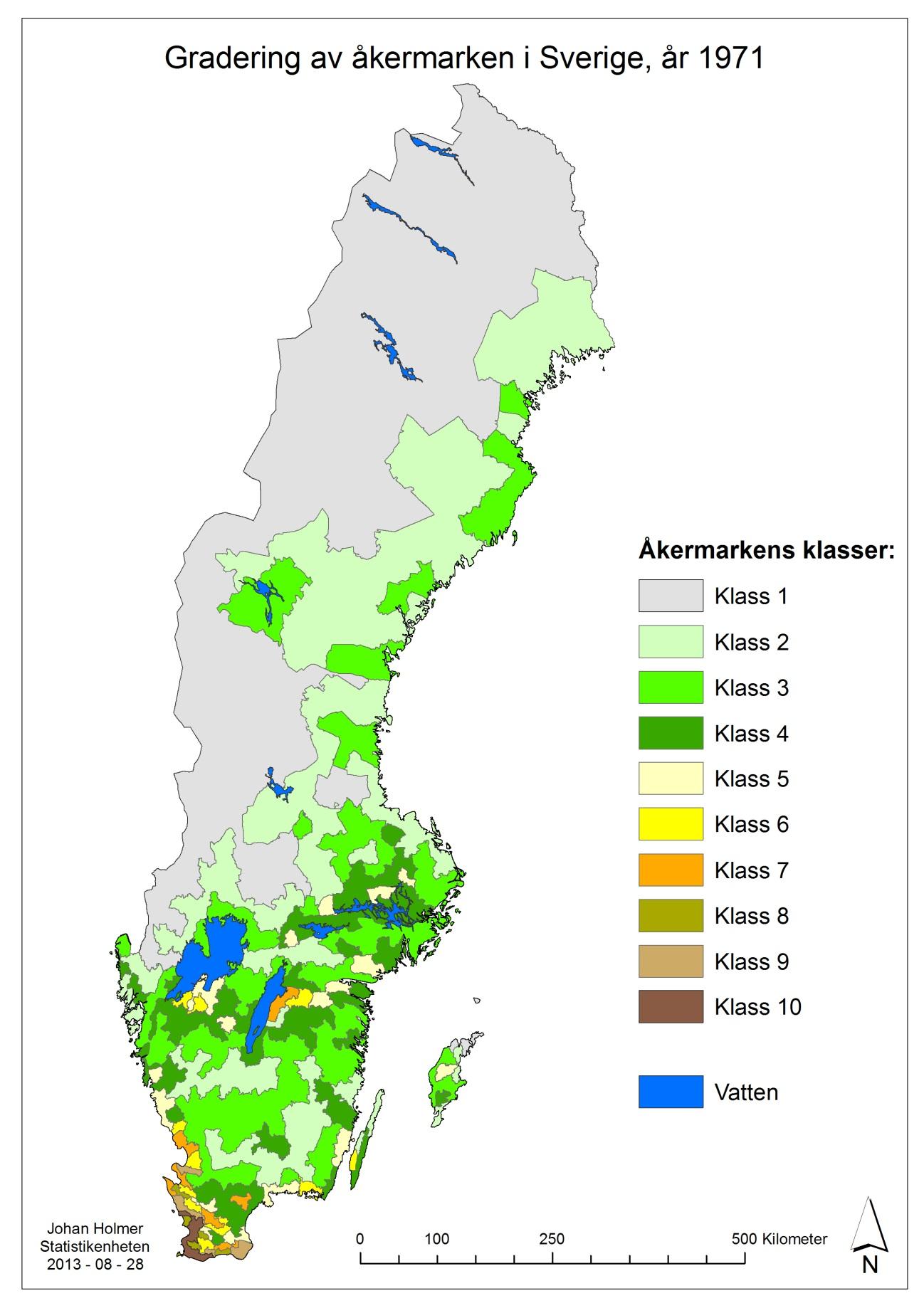 jordbruk karta Gradering av åkermark: Var finns klass 10 jordarna?   Jordbruket i  jordbruk karta