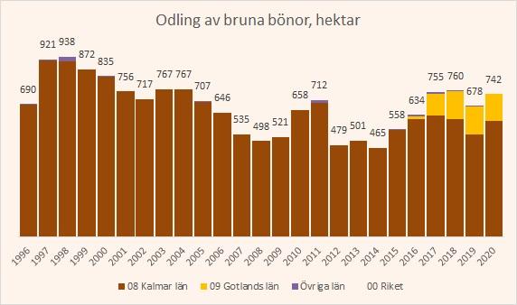 odling av bruna bönor